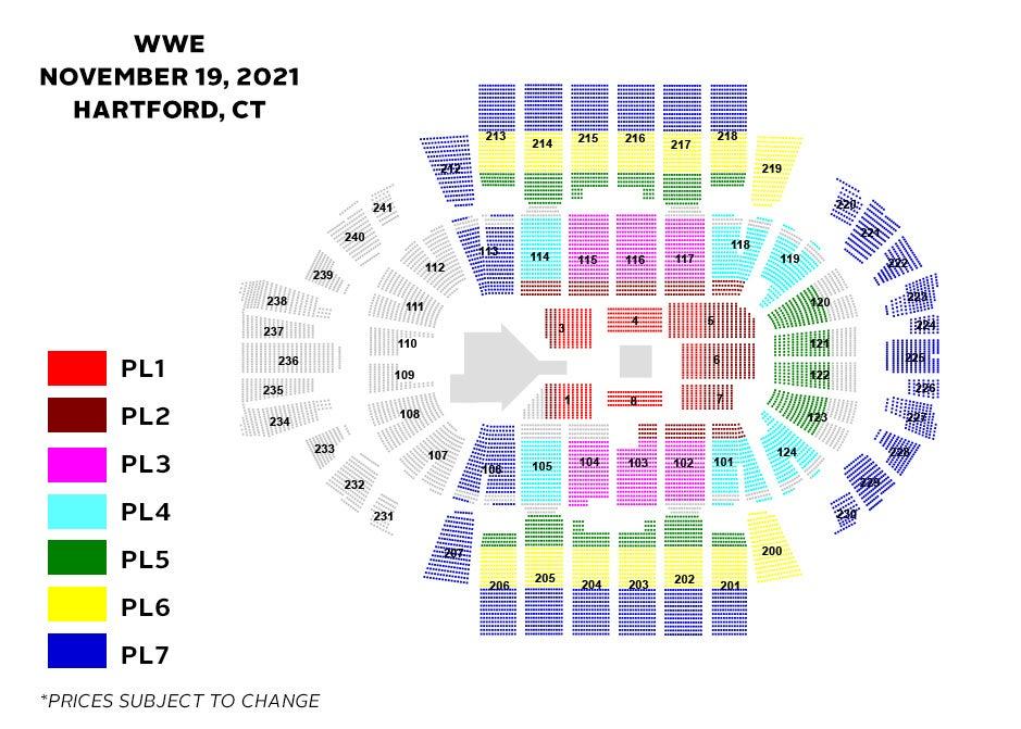 WWE Seating Chart
