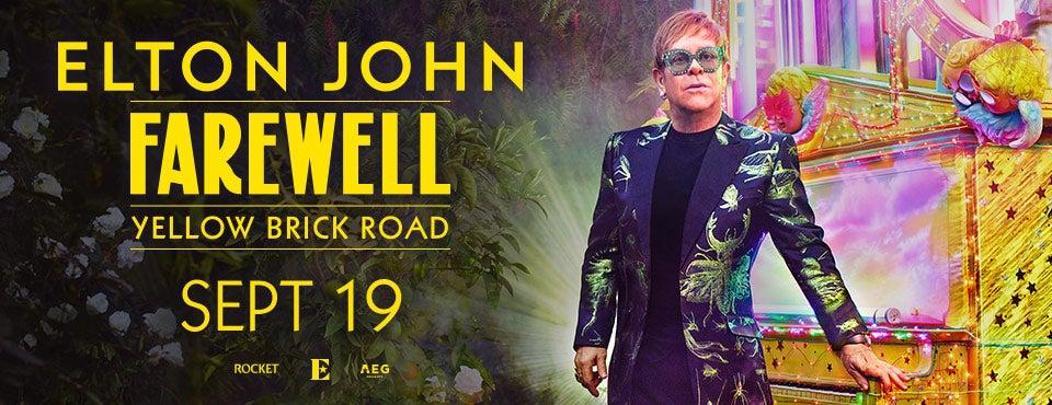 Elton John Farewell Yellow Brick Road Tour Xl Center