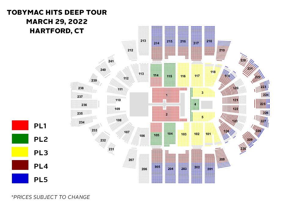 TobyMac Seating Chart