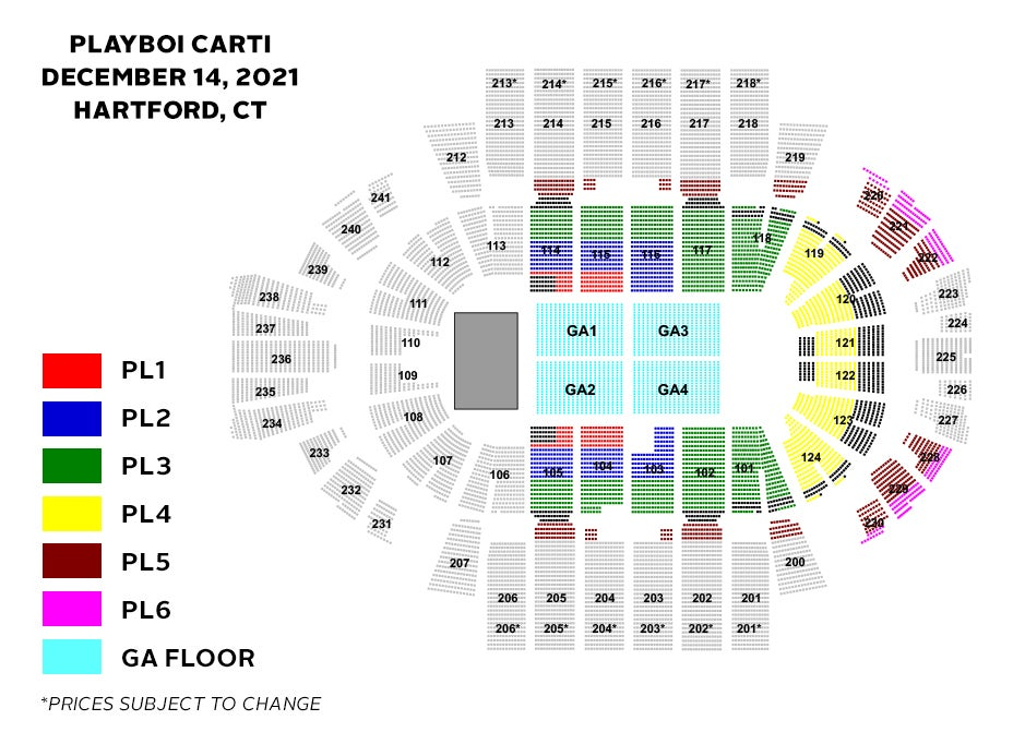 Playboi Carti Seating Chart